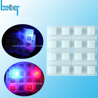 Transparent 4x4 Silicone Backlight Keypad