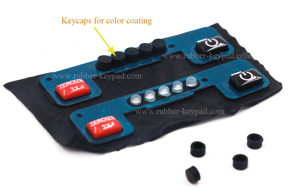 Rubber Button Pad with Backed Adhesive