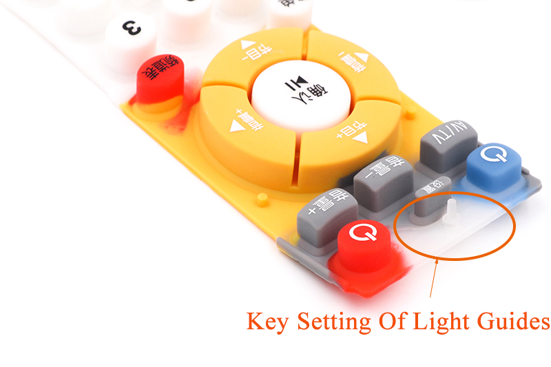 silicone rubber keypad light guides
