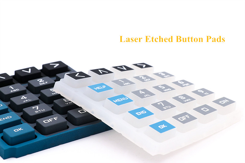 Laser Etched Silicone Buttons