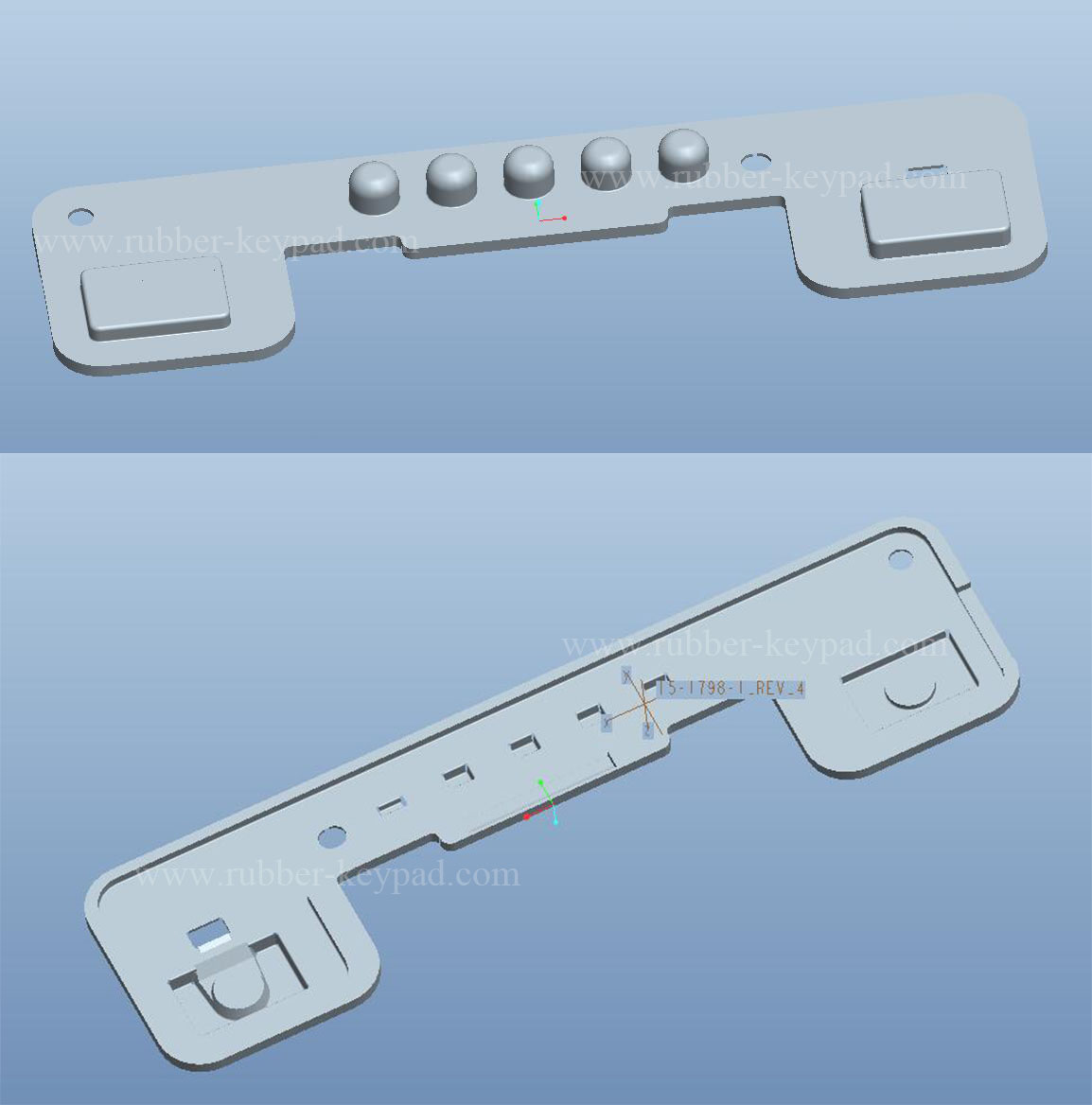 silicone button pad design