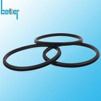 Custom silicone rubber lip seal