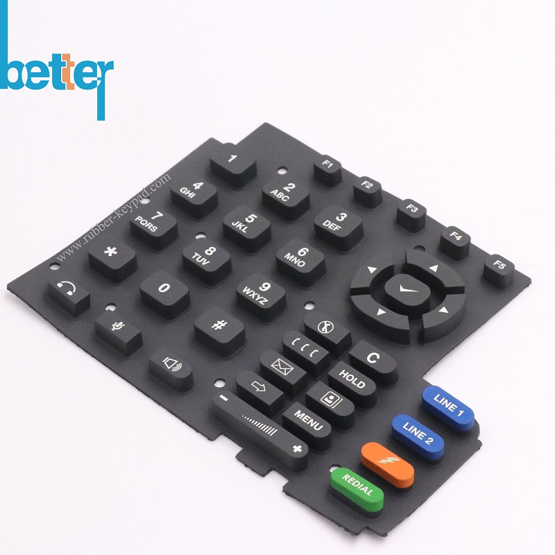 Factory PU Oil Epoxy Coated Rubber Keyboard